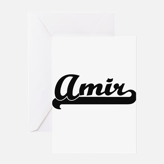 Amir Classic Retro Name Design Greeting Cards