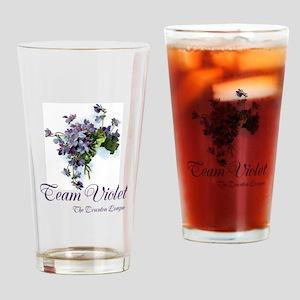 Team Violet Drinking Glass