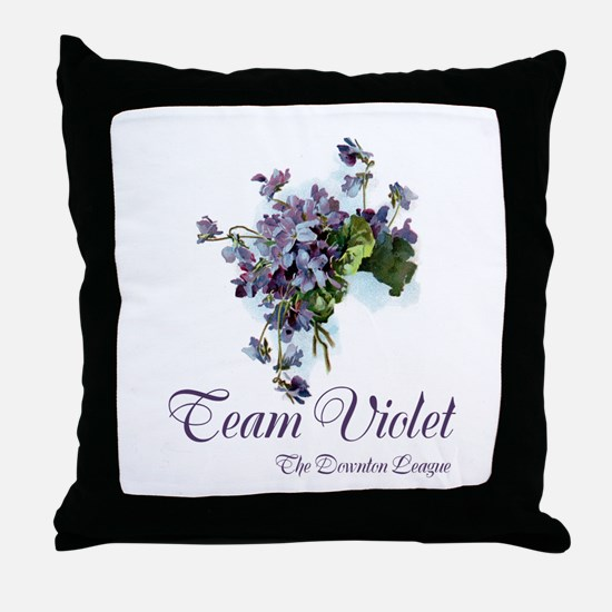 Team Violet Throw Pillow