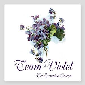 """Team Violet Square Car Magnet 3"""" x 3"""""""