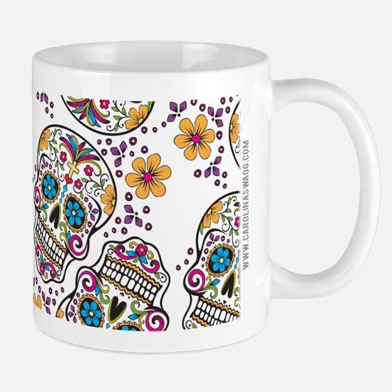 Sugar Skull White Mugs