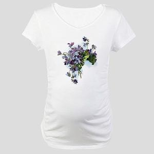 Violets Maternity T-Shirt