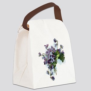 Violets Canvas Lunch Bag