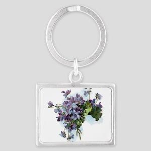 Violets Keychains