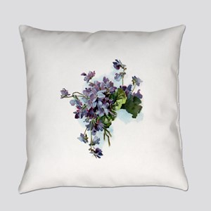 Violets Everyday Pillow