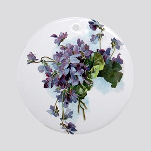 Violets Ornament (Round)