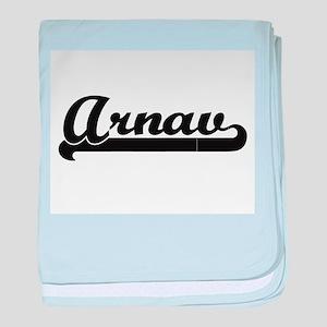 Arnav Classic Retro Name Design baby blanket
