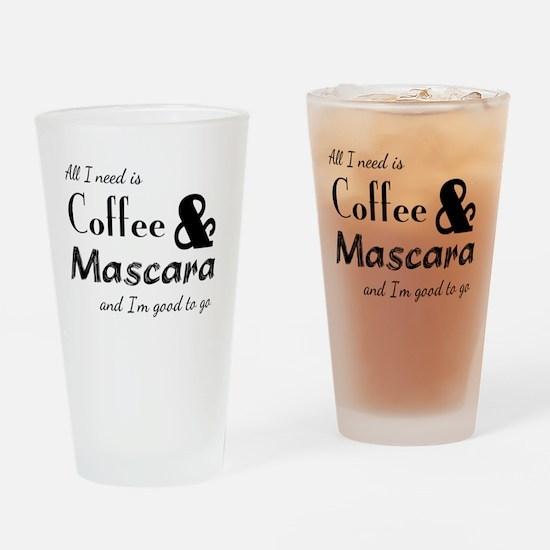 Coffee & Mascara Drinking Glass