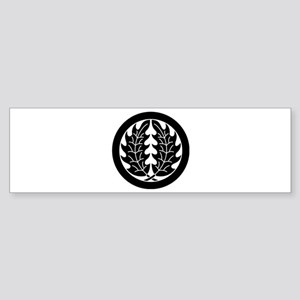 Embracing holly leaves in circle Sticker (Bumper)