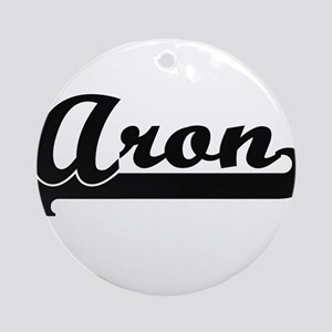 Aron Classic Retro Name Design Ornament (Round)