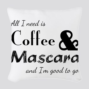 Coffee & Mascara Woven Throw Pillow