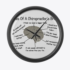 Chiropractor Humor Large Wall Clock