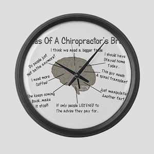Chiropractor Humor Large Wall Clock
