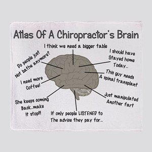 Chiropractor Humor Throw Blanket