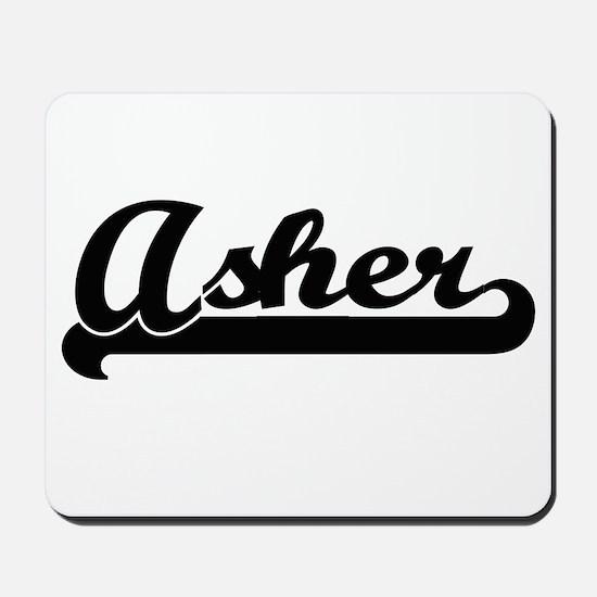Asher Classic Retro Name Design Mousepad