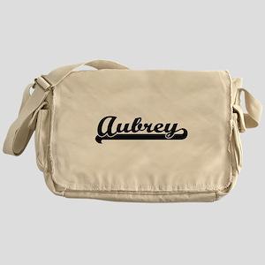 Aubrey Classic Retro Name Design Messenger Bag