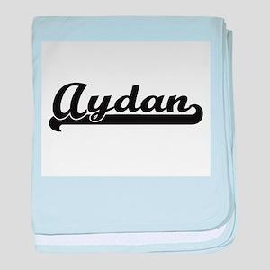 Aydan Classic Retro Name Design baby blanket