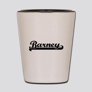 Barney Classic Retro Name Design Shot Glass