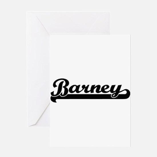 Barney Classic Retro Name Design Greeting Cards