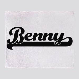 Benny Classic Retro Name Design Throw Blanket