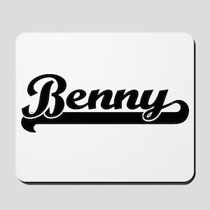 Benny Classic Retro Name Design Mousepad