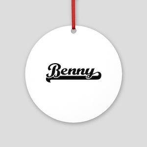 Benny Classic Retro Name Design Ornament (Round)