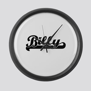 Billy Classic Retro Name Design Large Wall Clock