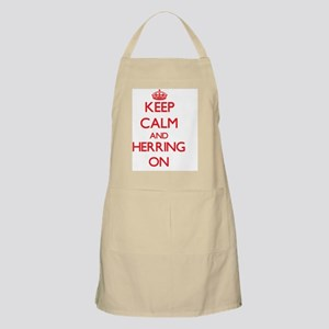 Keep Calm and Herring ON Apron