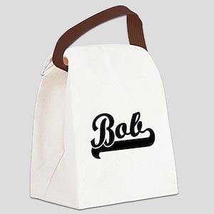 Bob Classic Retro Name Design Canvas Lunch Bag