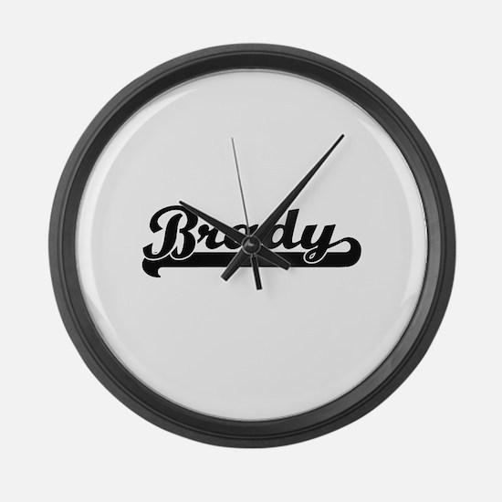 Brady Classic Retro Name Design Large Wall Clock