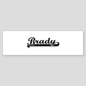 Brady Classic Retro Name Design Bumper Sticker