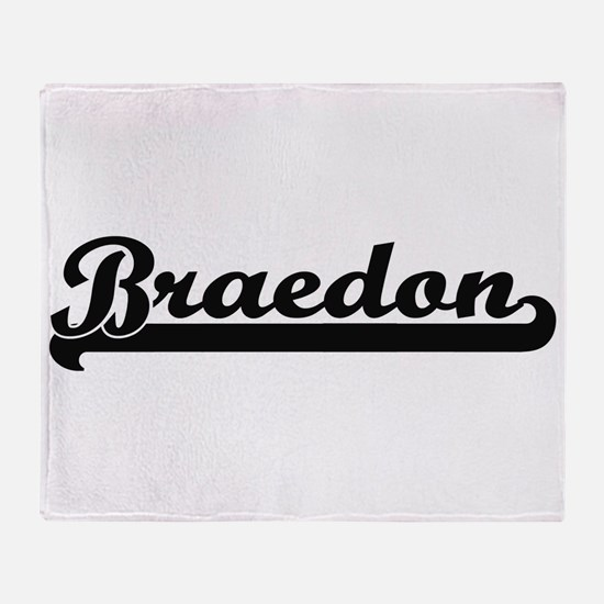 Braedon Classic Retro Name Design Throw Blanket