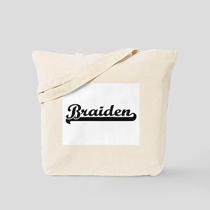 Braiden Classic Retro Name Design Tote Bag