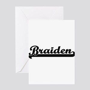Braiden Classic Retro Name Design Greeting Cards