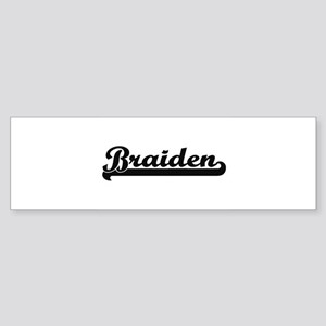 Braiden Classic Retro Name Design Bumper Sticker