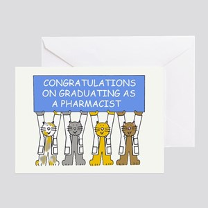 Congratulations on graduating as a p Greeting Card