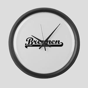 Brennen Classic Retro Name Design Large Wall Clock