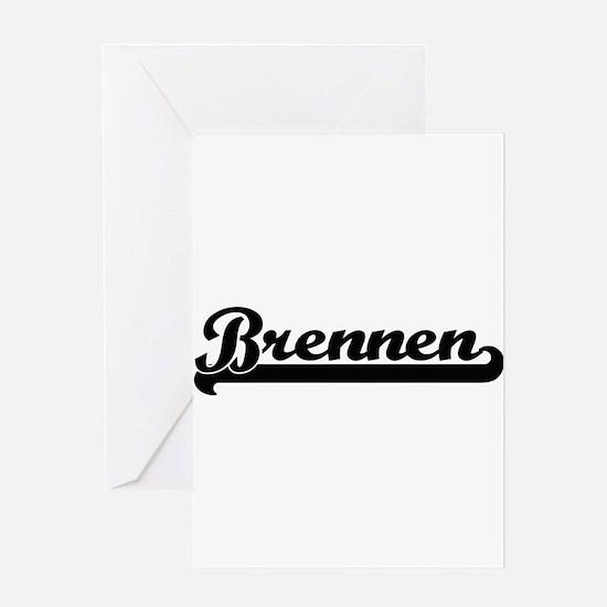 Brennen Classic Retro Name Design Greeting Cards