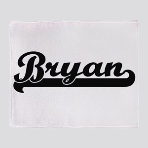 Bryan Classic Retro Name Design Throw Blanket