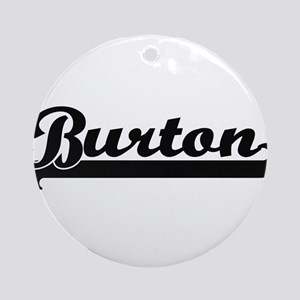 Burton Classic Retro Name Design Ornament (Round)