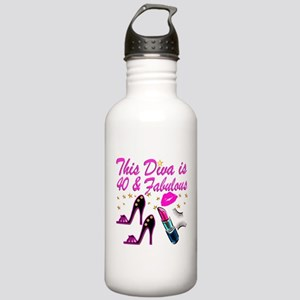 GORGEOUS 40TH Stainless Water Bottle 1.0L