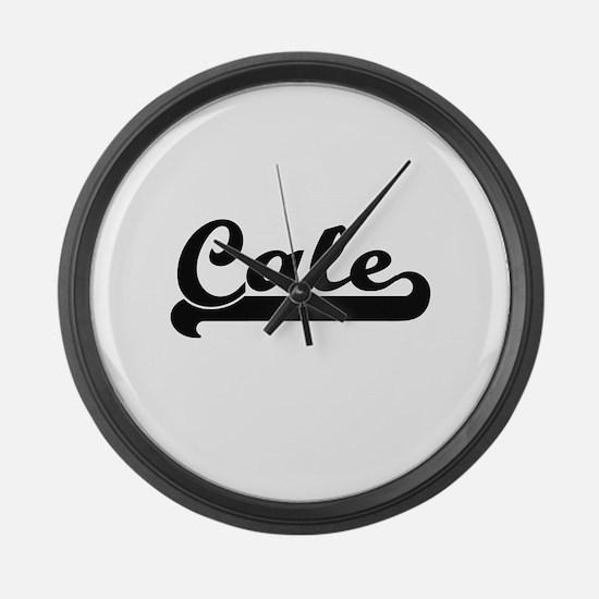 Cale Classic Retro Name Design Large Wall Clock