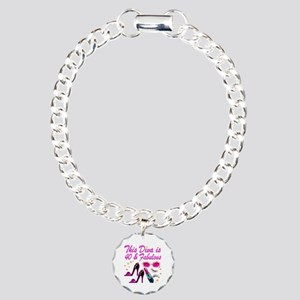 GORGEOUS 40TH Charm Bracelet, One Charm