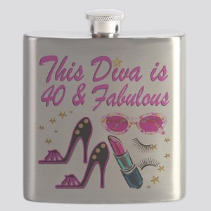 GORGEOUS 40TH Flask