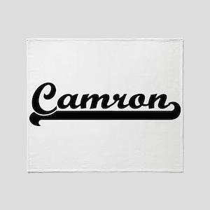 Camron Classic Retro Name Design Throw Blanket