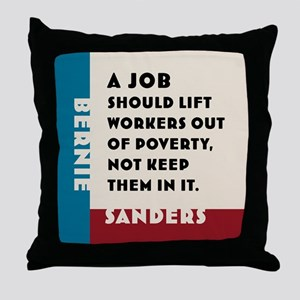Bernie Sanders 2016 Throw Pillow