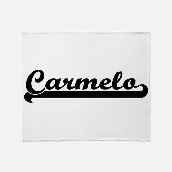 Carmelo Classic Retro Name Design Throw Blanket