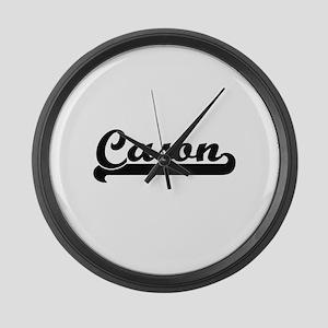 Cason Classic Retro Name Design Large Wall Clock