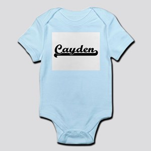 Cayden Classic Retro Name Design Body Suit