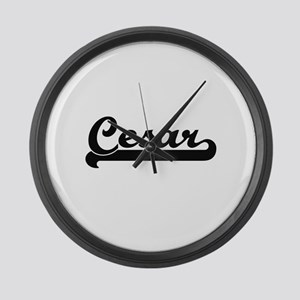 Cesar Classic Retro Name Design Large Wall Clock